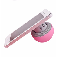 Mushroom Mini Wireless Bluetooth Speaker Hands Free Sucker Cup Audio Receiver Music Stereo Subwoofer USB For Android IOS PC 1072