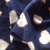 Heart printed soft Spandex Polar Fleece