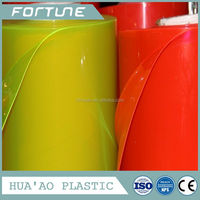 translucent colorful pvc film plastic pvc film for packing bag