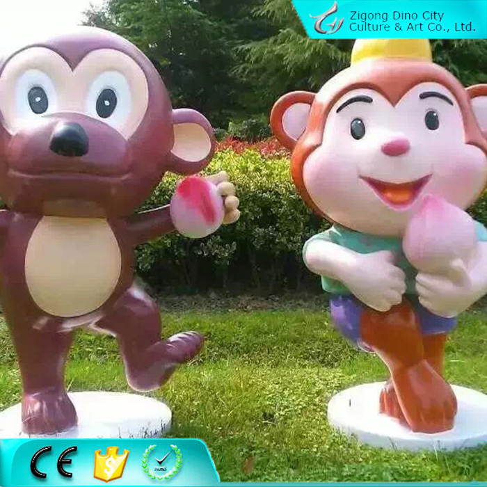 Large Fiberglass Cartoon Character Outdoor Sculpture