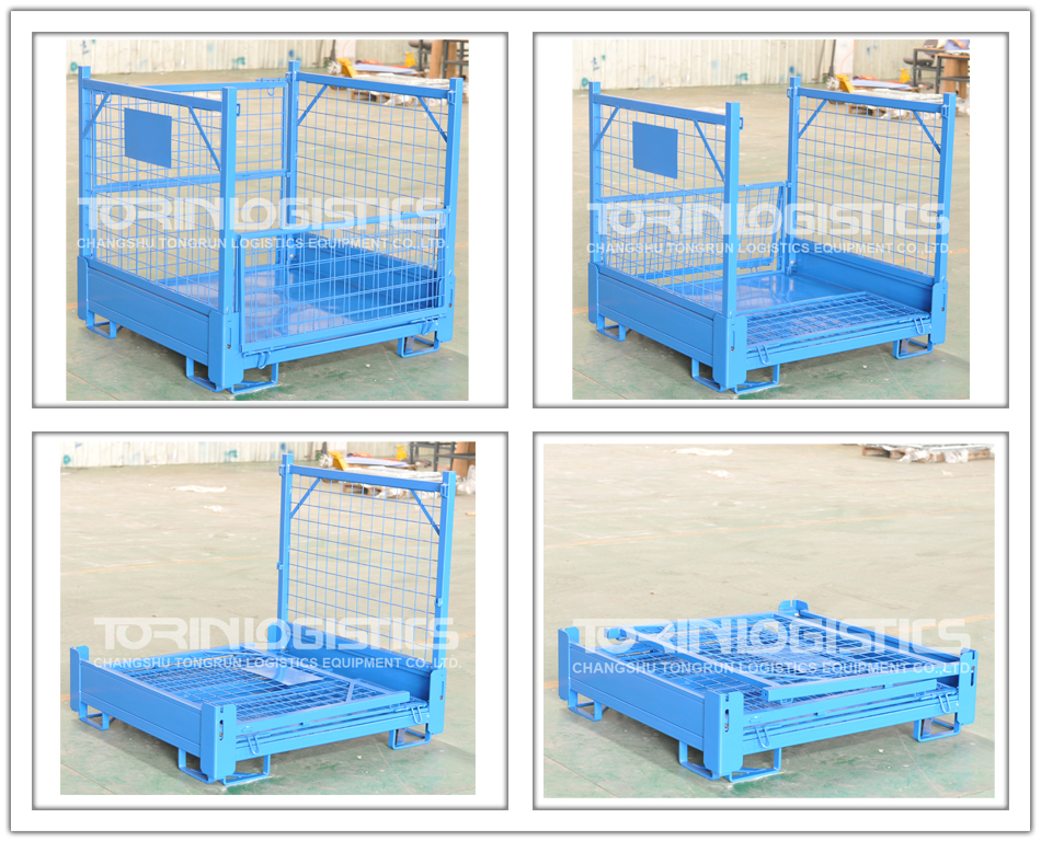 European Folding Small Welded Steel Wire Mesh Container