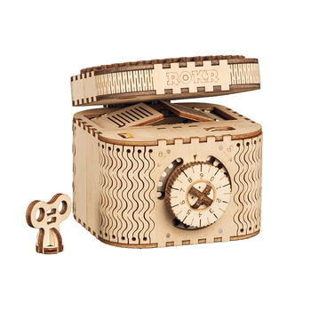 Robotime treasure box new wooden box puzzle for gift box