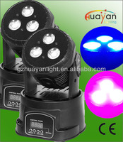 high power beam moving head light 3*15w RGB COB leds using on stage party music show laser event