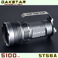 DAKSTAR ST56A XML T6 5100LM 18650 LED Superbright Aluminum Rechargeable High Power Police 50W Flashlight