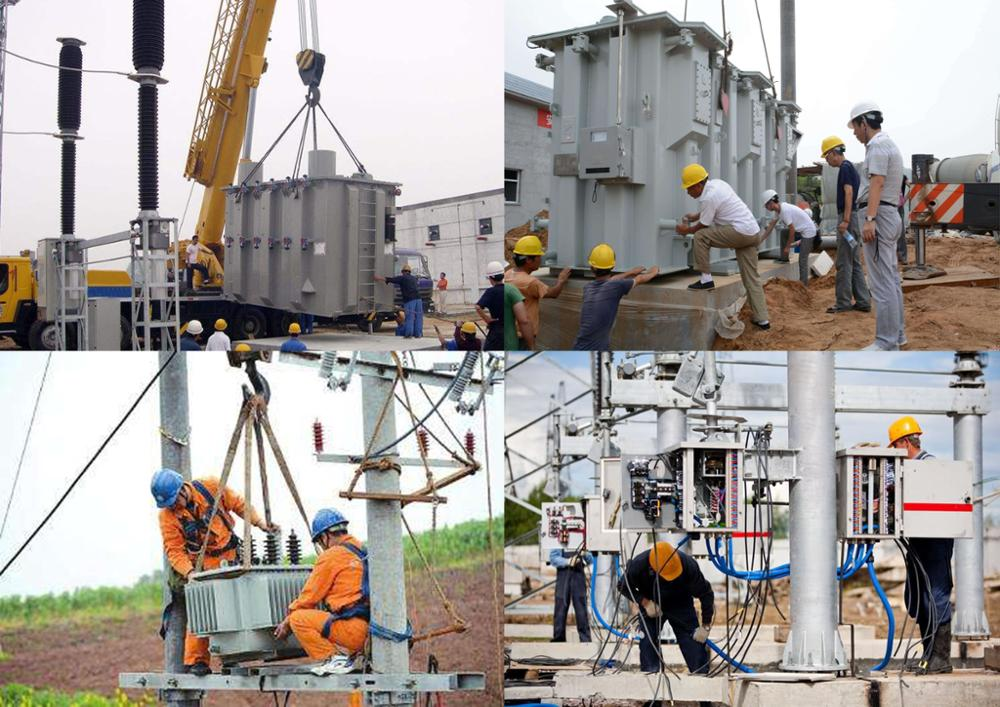110kv 15mva three winding oil immersed step down power transformer