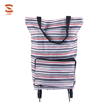 High Quality Factory Customized 600D PVC Foldable Shopping Trolley Bag