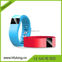 TW64 Smart bracelet silicone wristband watch for iphne android phones