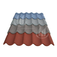 color clay stone coated roofing tile from China