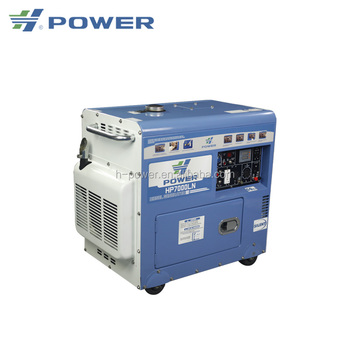 Quality assured small water cooled silent diesel generator spare parts HP7000LN