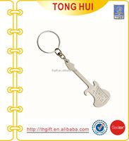 Mini guitar shaped key chain
