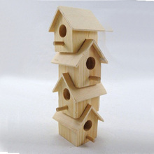 Customized Unfinished Wooden Bird House