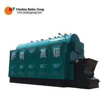 China Henan famous brand peanut shell fired chain grate three return steam boiler for textile