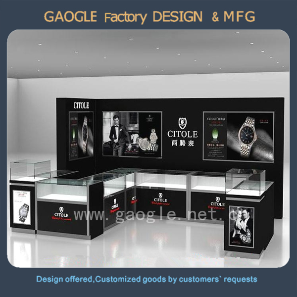 design retail store cashier counter furniture display watch shop decoration