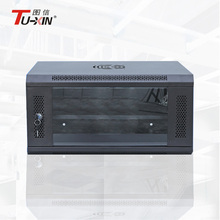 Wall mount locking network cabinet 6u small mount rack