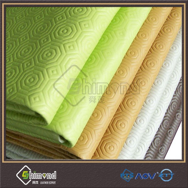 2015 new products pvc embossed table protector, upholstery leather table protector