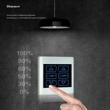 Smart Hotel Electrical Lighting Led Dimmer Switches,Home Touch Screen Dimming Control Wall Switch