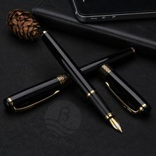 good quality carved metal fountain pen with logo custom