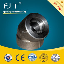 stainless steel pipe fittings 45 degree sw elbow wpb std 3000#/6000#