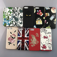 Newest fashion embroidery design leather phone case, leather embroidery phone case for iPhone 8 plus
