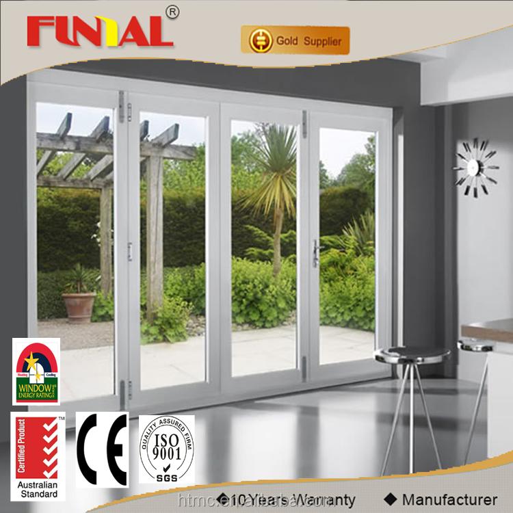 Venta al por mayor puertas principales lujo compre online - Puerta plegable de aluminio ...