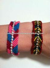 chevron friendship bracelet with rhinestone