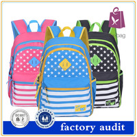 2016 Lightweight Polyester Average Size Of Student School Bag Backpack For Girls