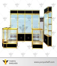 Customized Philippines gold and black jewelry display counter