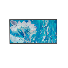 Creative Blue Flower Abstract Oil Painting Printing For Living Room