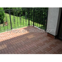 Durable and Low Cost 300x300mm WPC Decking Outdoor Board Tile