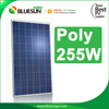 Bluesun a grade cheap price poly solar panel 255w solar panel manufacturers in china