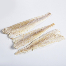 2017 GOOD QUALITY WHOLESALE IQF DRIED SALTED 49-52 % MOISTURE THERAGRA CHALCOGRAMMA POLLOCK FILLET