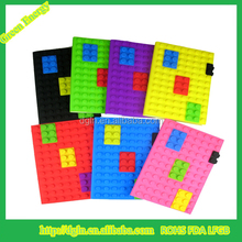 Factory price silicone cover notebook with high quality silicone diary notebook cover