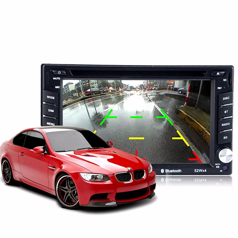"USB SD FM AM 6.5"" 2din TFT rear view camera touch screen bluetooth car dvd player"