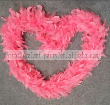 Factory Deluxe Pink Flat Marabou Feather Boa Woman Dance Masquerade Carnival Feather Boa Scarf Decoration