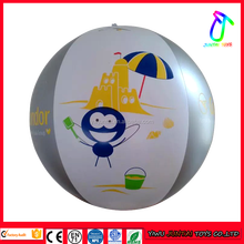 2016 hot sale 42cm size custom printed large beach balls for kids