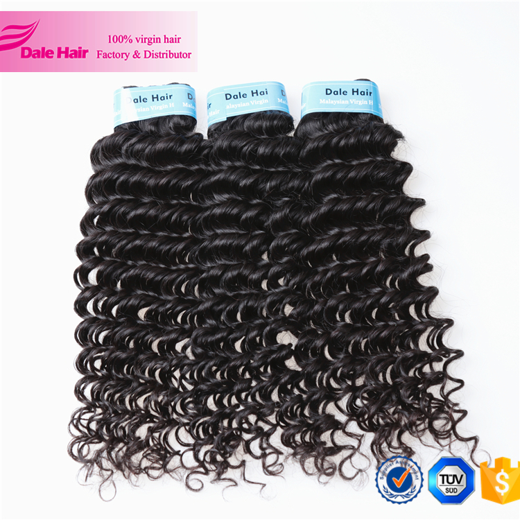 Full Cuticle Natural Color and high quality 100 pure virgin malaysian human hair products of premium plus human hair extension