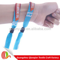 2013 Christmas invitation gift custom woven bracelets with free sample