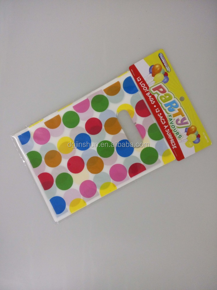 Promotional plastic kids party goody bags for birthday parties