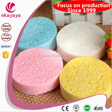 wet or dry 100% wooden pulp cellulose sponge compressed cellulose sponge