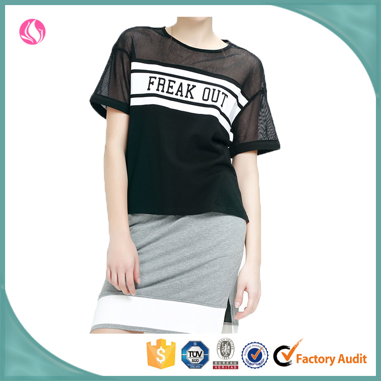fashion street style clothing see through mesh t shirt young style clothing