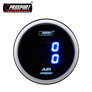 52MM Prosport Car Blue Digital Dual Display Air Pressure Gauge