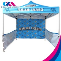 custom advertise fast open fireproof canopy tent 10x10