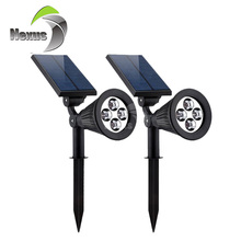 New Product High Brightness Outdoor Spike IP65 4leds 2w Solar Garden Light
