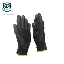 New Design Palm Fit pu coated gloves nylon/pu friction gloves