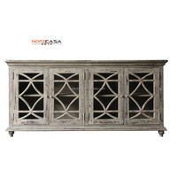 Vintage American Style Distressed living room cabinet