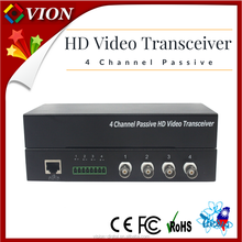 Factory Price CCTV Accessories passive transceiver 4ch AHD Video Balun for cctv camera system