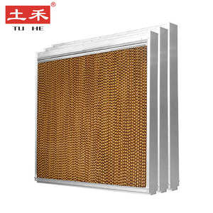 Greenhouse Evaporative Air System Aluminium Alloy Frame wet Cooling Pad Wall