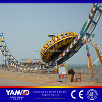 Yamoo Big Rides! China Manufacturer Amusement Park Flying UFO Rides Flying UFO Adult Mega Disk Outdoor Amusement Park Equipment