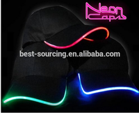 OEM Promotional youth fitted baseball caps with led light
