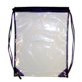 recyclable small transparent PVC drawstring bag